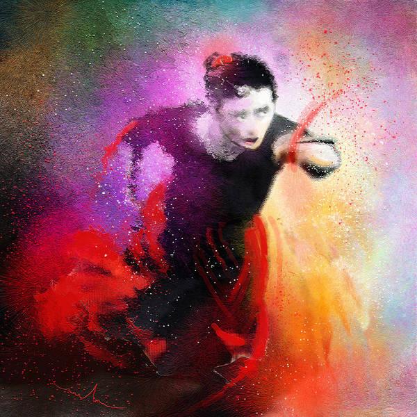 Painting - Flamencoscape 03 by Miki De Goodaboom