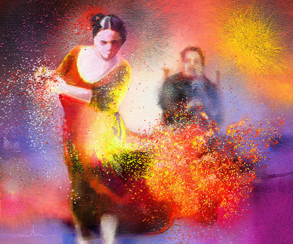 Painting - Flamencoscape 11 by Miki De Goodaboom