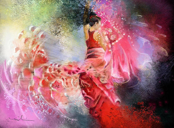 Painting - Flamencoscape 13 by Miki De Goodaboom