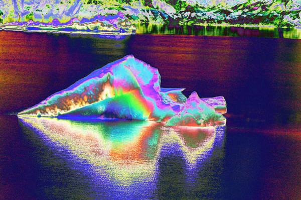 Photograph - Flaming Arrow Iceberg by Richard Henne