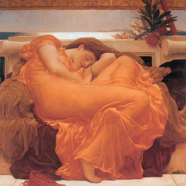 Painting - Flaming June  by Frederick Leighton