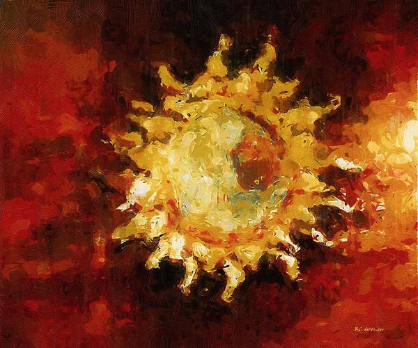 Painting - Flaming Out by RC DeWinter