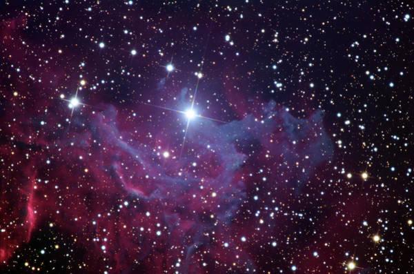 Flaming Star Nebula (ic 405) Art Print