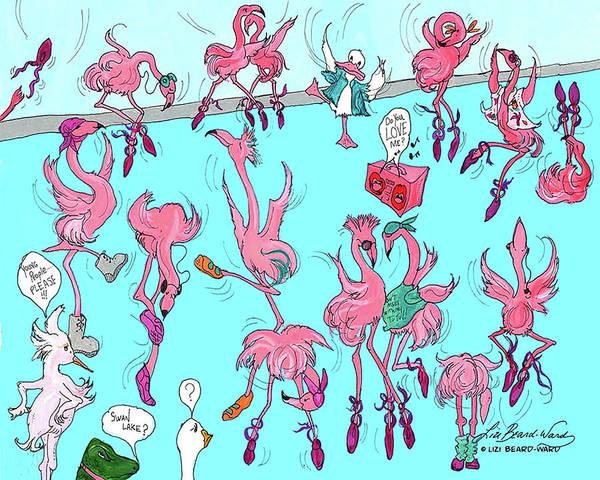 Painting - Flamingo A Go Go by Lizi Beard-Ward