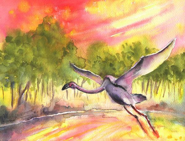 Painting - Flamingo In Alcazar De San Juan by Miki De Goodaboom