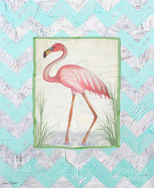 Pink Flamingo Wall Art - Painting - Flamingo  by Jean Plout