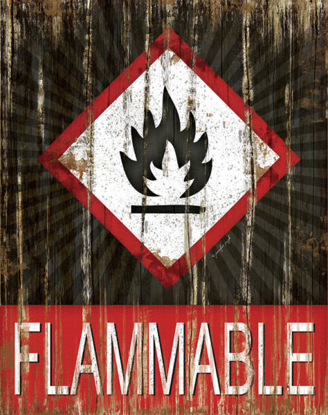 Wall Art - Painting - Flammable by Jennifer Pugh