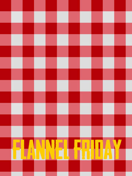 Diagonal Digital Art - Flannel Friday by Celestial Images