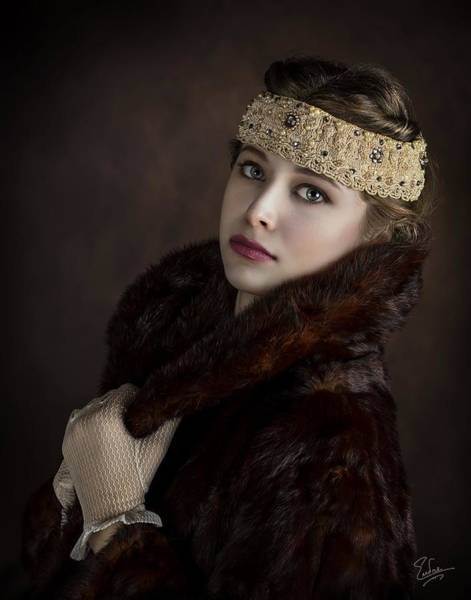 Photograph - Flapper Girl by Endre Balogh