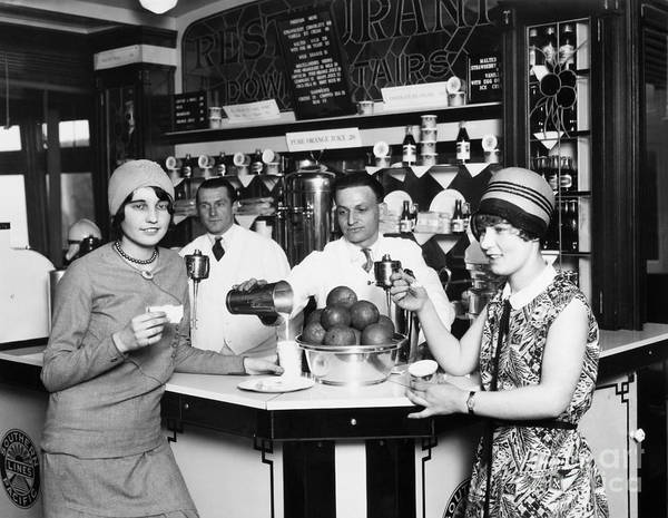 Photograph - Flappers, 1928 by Granger