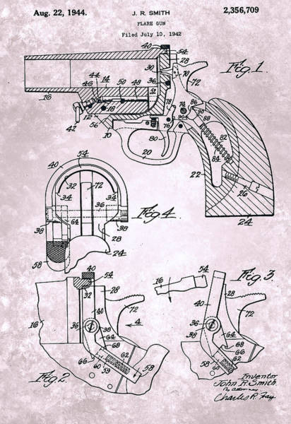 Painting - Flare Gun - Patented On 1942 by Celestial Images