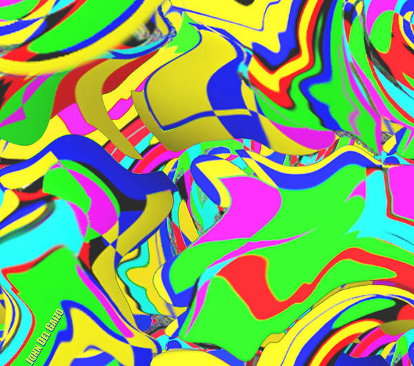 New Thought Digital Art - Flarf And Vorticism by Del Gaizo