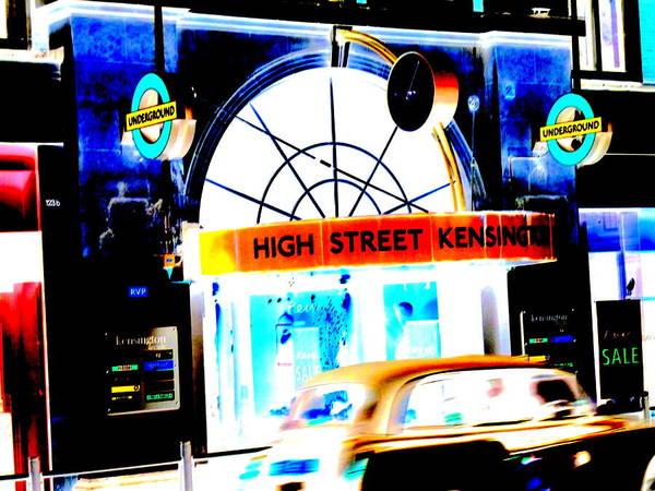 Wall Art - Photograph - Flashy High Street Kensington In London  by Funkpix Photo Hunter