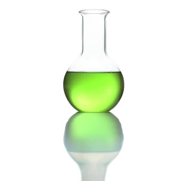 Bottle Green Photograph - Flat Bottom Flask by Science Photo Library