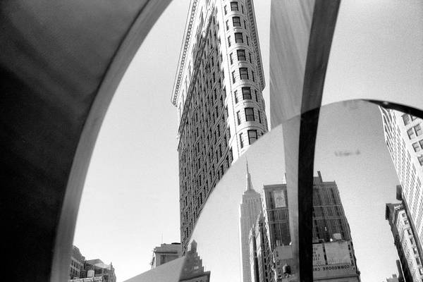 Photograph - Flat Iron Building Empire State Mirror by Dave Beckerman