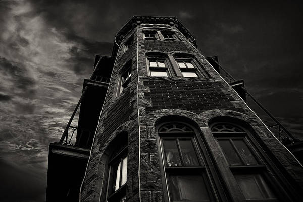 Eureka Springs Photograph - Flat Iron Building by Tim Hayes
