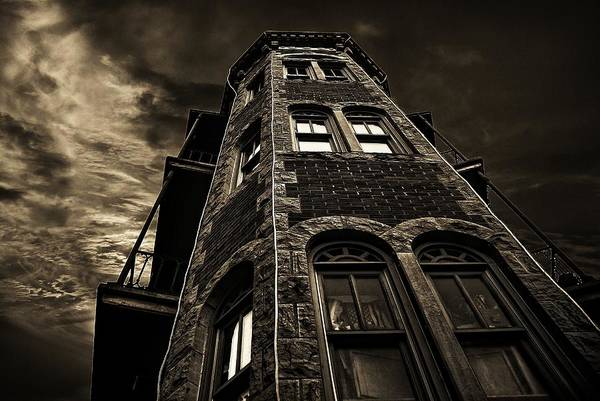 Eureka Springs Photograph - Flat Iron Buldings by Tim Hayes