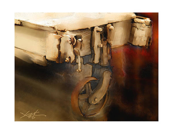 Wagon Wheel Digital Art - Flatbed Trolley by Bob Salo