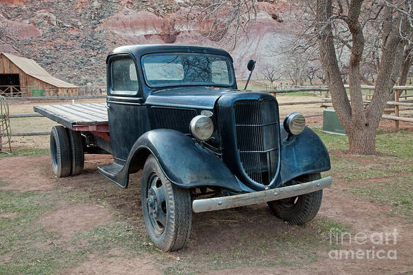 Photograph - Flatbed Truck  by Fred Stearns