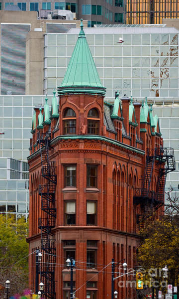 Photograph - Flatiron Building In Toronto by Les Palenik