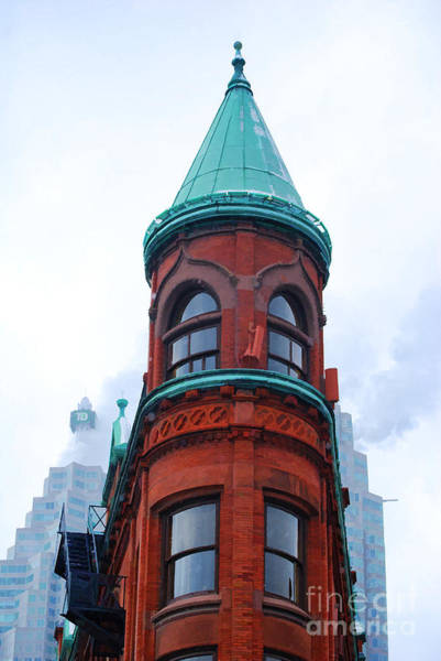 Photograph - Flatiron Building In Toronto - Painterly by Les Palenik
