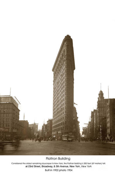 Photograph - Flatiron Building New York City Circa 1904 by California Views Archives Mr Pat Hathaway Archives
