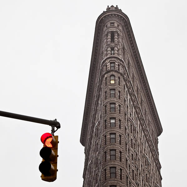 Stop Light Photograph - Flatiron by Dave Bowman