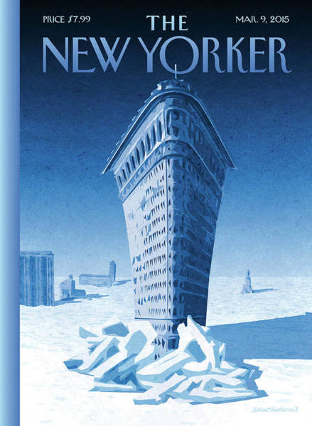 Cold Weather Wall Art - Painting - Flatiron Icebreaker by Birgit Schoessow