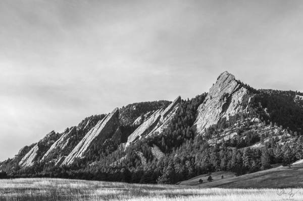 State Of Colorado Photograph - Flatirons B W by Aaron Spong