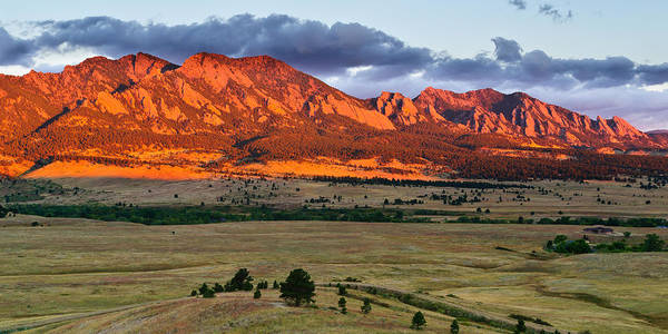 Wall Art - Photograph - Flatirons On Fire by Doug Andrews