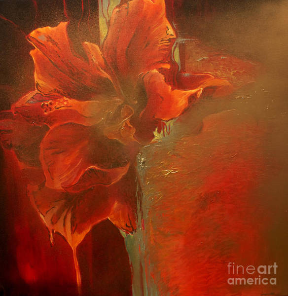 Hibiscus Flower Painting - Flava by Lin Petershagen