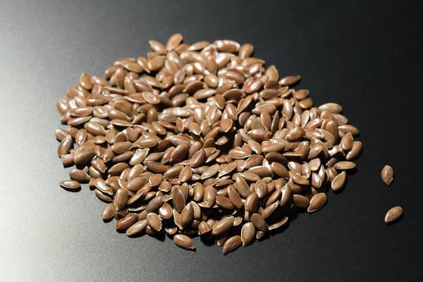Wall Art - Photograph - Flax Seeds by Wladimir Bulgar/science Photo Library
