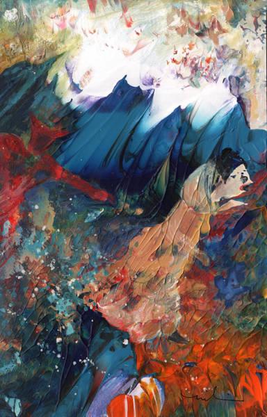 Painting - Fleeing Temptation by Miki De Goodaboom