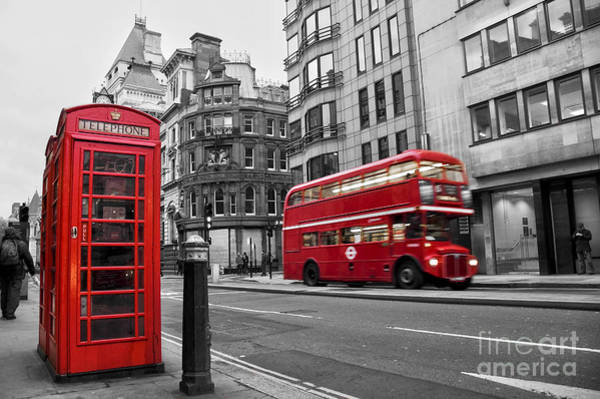 Box Car Photograph - Fleet Street London by Delphimages Photo Creations
