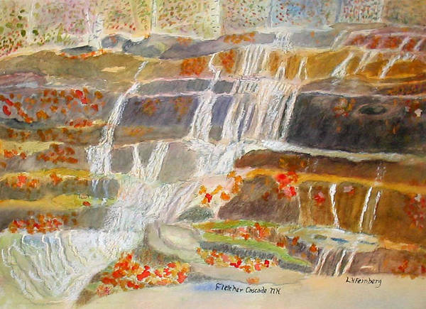 Painting - Fletcher Cascade by Linda Feinberg