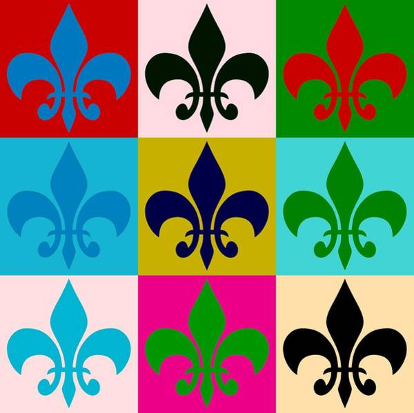 Hurricane Lily Digital Art - Fleur-de-lis Collage by Dan Sproul
