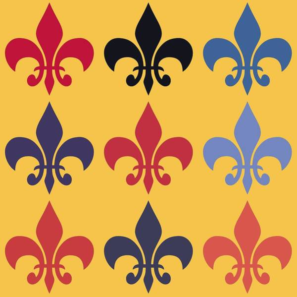 Hurricane Lily Digital Art - Fleur-de-lis by Dan Sproul