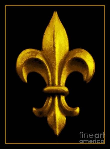 Fleur De Lis Photograph - Fleur De Lis In Black And Gold by Carol Groenen