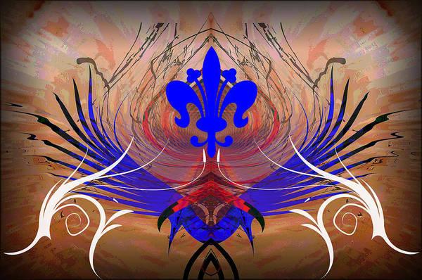 Fleur Digital Art - Fleur De Lis by Michael Damiani