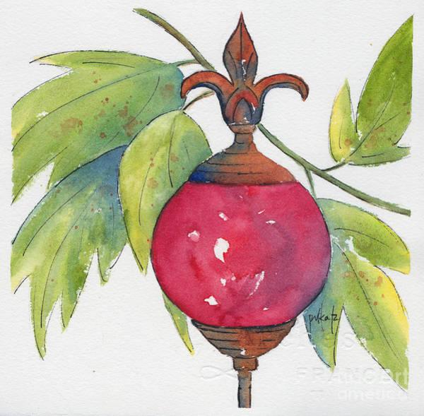 Fleur De Lys Painting - Fleur-de-lis Rouge by Pat Katz