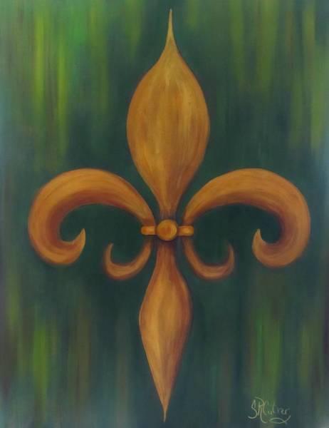 Fleur De Lys Painting - Fleur-de-lis by Sandra Reeves