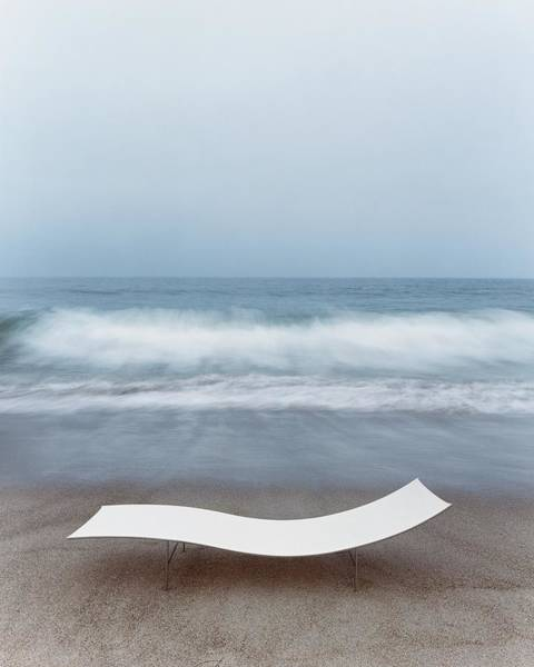 Wall Art - Photograph - Flexy Batyline Mesh Curve Chaise On Malibu Beach by Simon Watson
