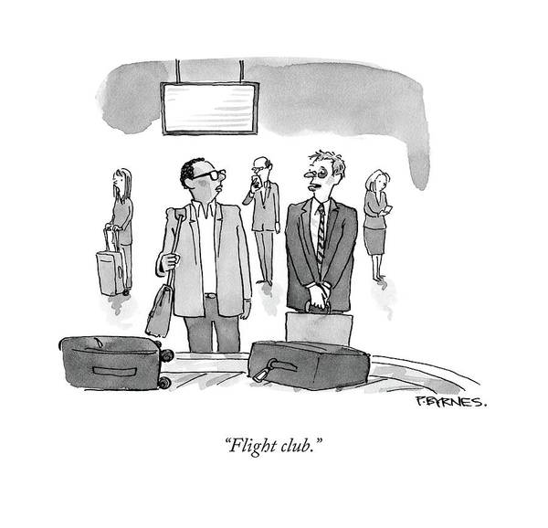 Flying Drawing - Flight Club by Pat Byrnes