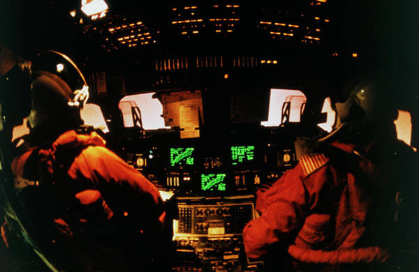 Flight Deck Photograph - Flight Deck Of Shuttle During Re-entry by Nasa/science Photo Library