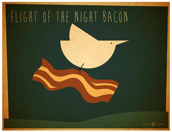 Digital Art - Flight Of The Night Bacon by Tim Nyberg
