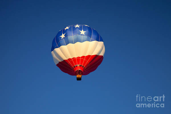 Hot Air Balloons Photograph - Flight Of The Patriot by Mike  Dawson
