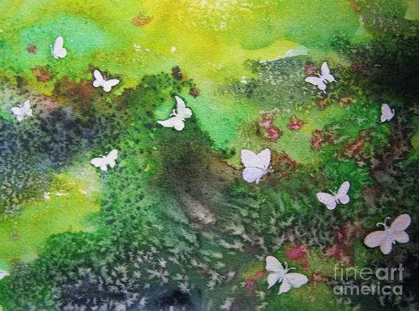 Painting - Flight Of White by Lynn Quinn