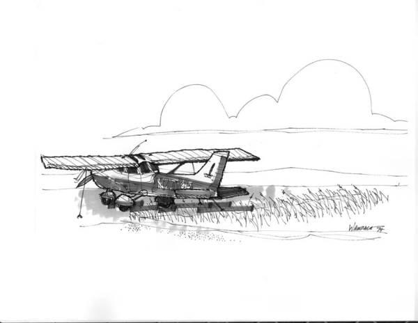 Drawing - Flights To Ocracoke 1970s by Richard Wambach