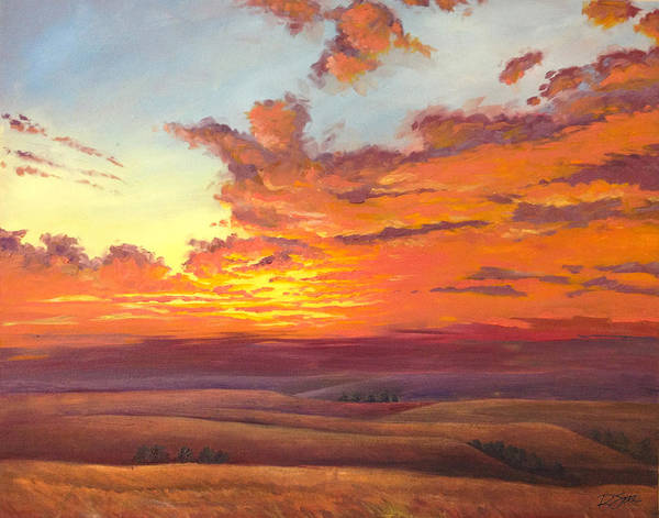 Painting - Flint Hills Magic by Rod Seel