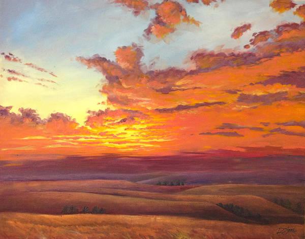 Painting - Flint Hills Magic by Rod Seel